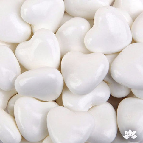 White Candy Hearts - 130g