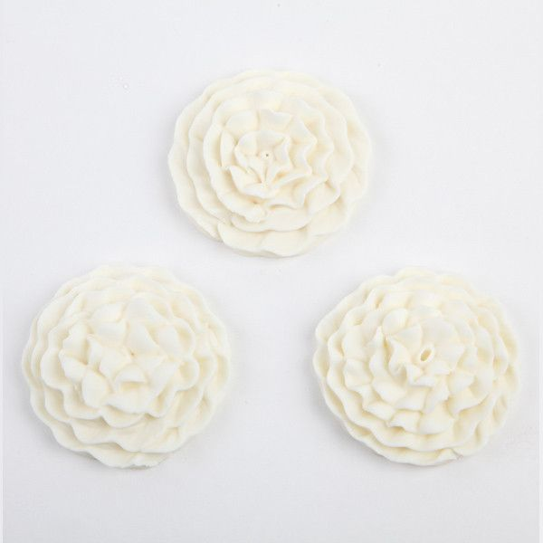 Carnation Royal Icing Decorations - White