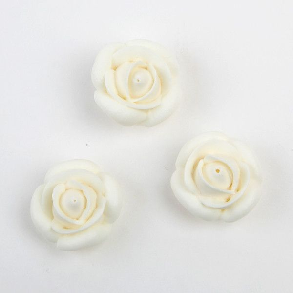 Rose Royal Icing Decorations - White