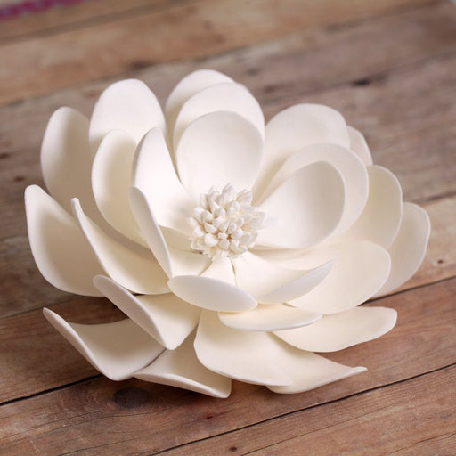 Gumpaste Large Dahlia Sugarflowers are perfect cake decorating fondant wedding cakes & cupcakes. Handmade cake toppers from gumpaste/fondant. Wholesale sugarflower. Caljava Bakery Supplies