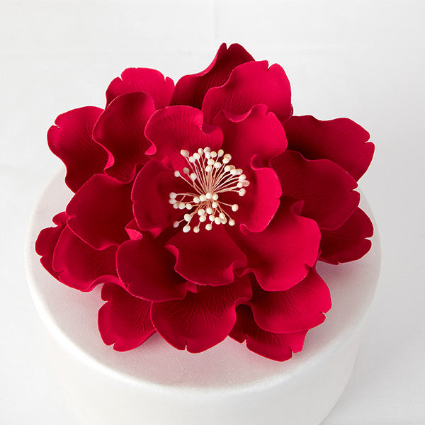 "7"" Extra Large Open Peony - Red"