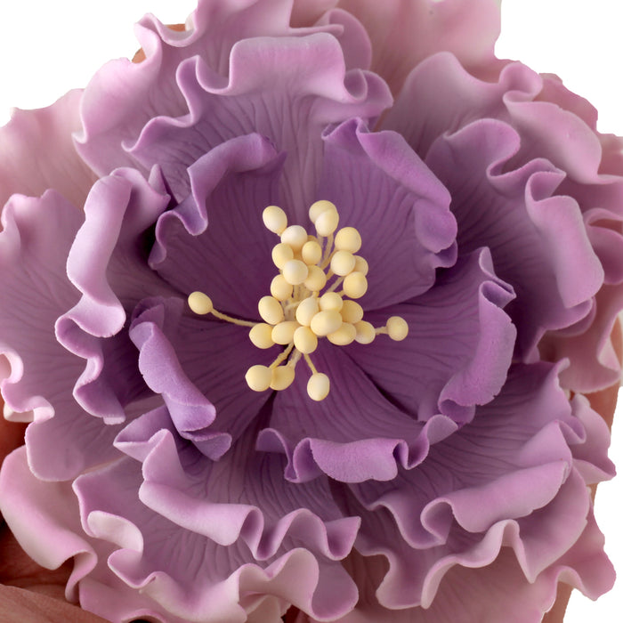 Gumpaste Garden Peony sugarflower cake toppers perfect for cake decorating rolled fondant wedding cakes and birthday cakes.  Wholesale cake supply & sugarflowers. | CaljavaOnline.com