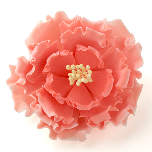 Pink Gumpaste Large Garden Peony sugarflower cake toppers perfect for cake decorating rolled fondant wedding cakes and birthday cakes.  Wholesale cake supply & sugarflowers. | CaljavaOnline.com