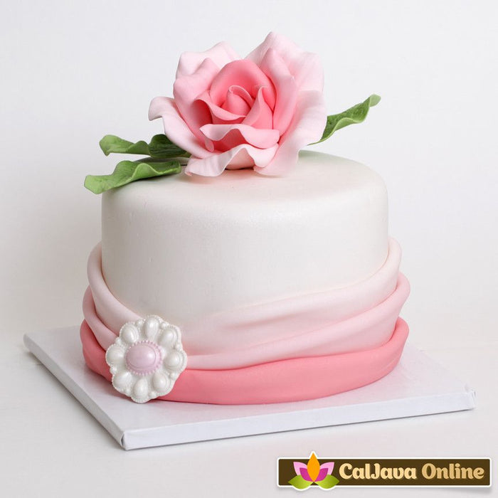 Large Pink Ombre Open Gumpaste Roses handmade cake decoration. Wholesale cake supply. Caljava
