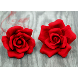 Large Red Open Gumpaste Rose handmade cake decoration. Wholesale cake supply. caljava