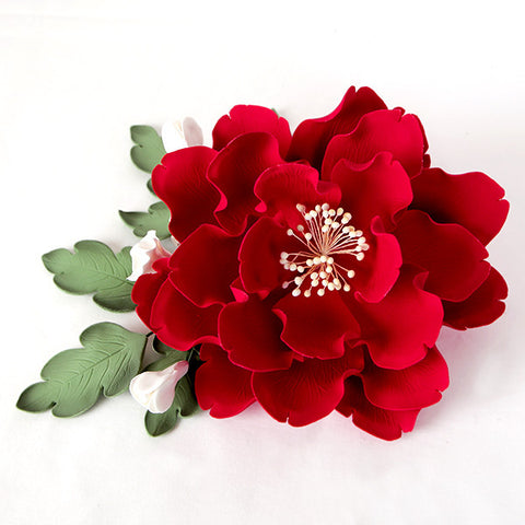 Peony Leaves Gumpaste Sugarflower great as cake toppers for decorating your own cakes. | CaljavaOnline.com