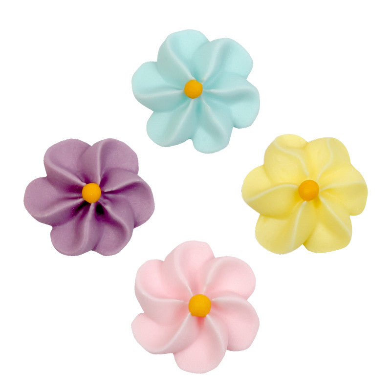 Drop Flower Royal Icing Decorations (Bulk) - Assortment