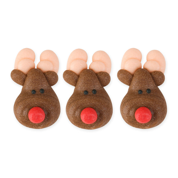 Reindeer Royal Icing Decorations (Bulk)