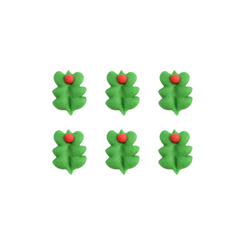 Tiny Holly Leaf Royal Icing Decorations (Bulk)