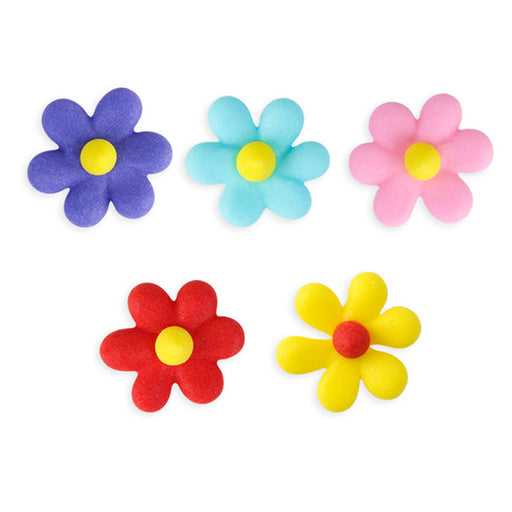 Small Star Flower Royal Icing Decorations (Bulk) - Assortment