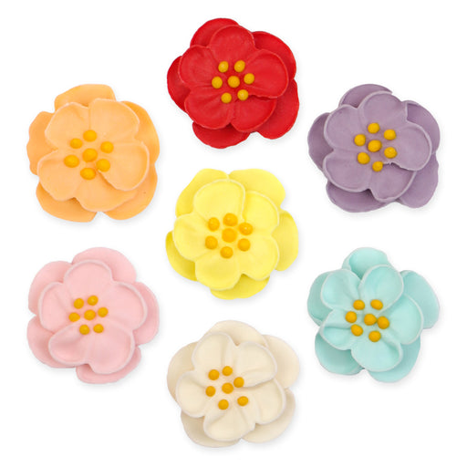 Dainty Bess Tea Rose Assortment Royal Icing Decorations (Bulk)