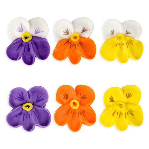Pansy Royal Icing Decorations (Bulk) - Assortment