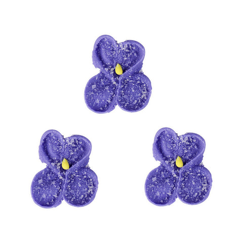 Sugar Violet Royal Icing Decorations (Bulk) - Purple