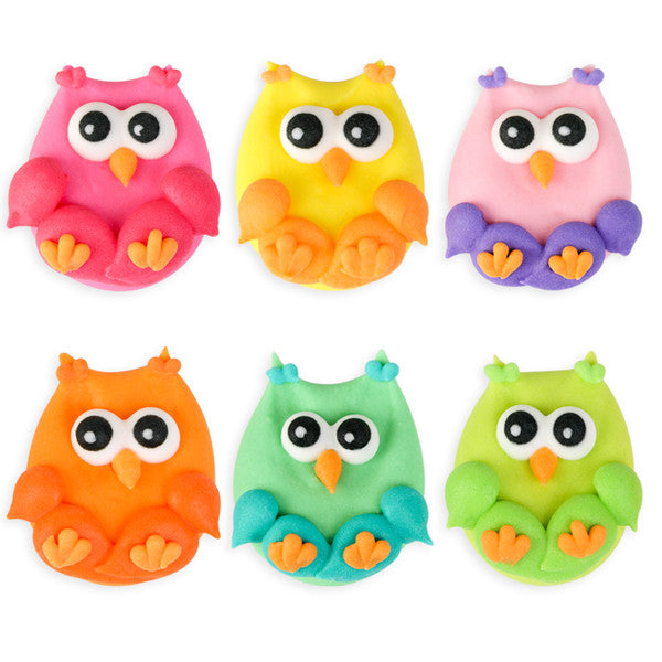 Owl Assortment Royal Icing Decorations (Bulk)