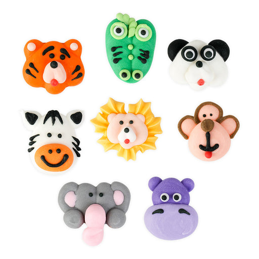 Jungle Animal Assortment Royal Icing Decorations (Bulk)