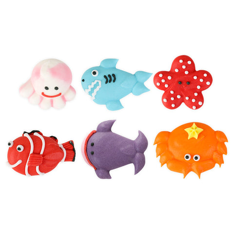 Large Sea Creature Assortment Royal Icing Decorations (Bulk)