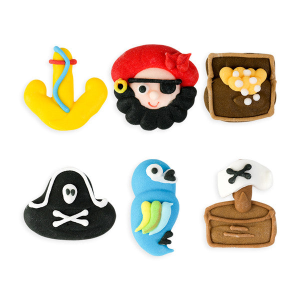 Pirate Set Royal Icing Decorations (Bulk)