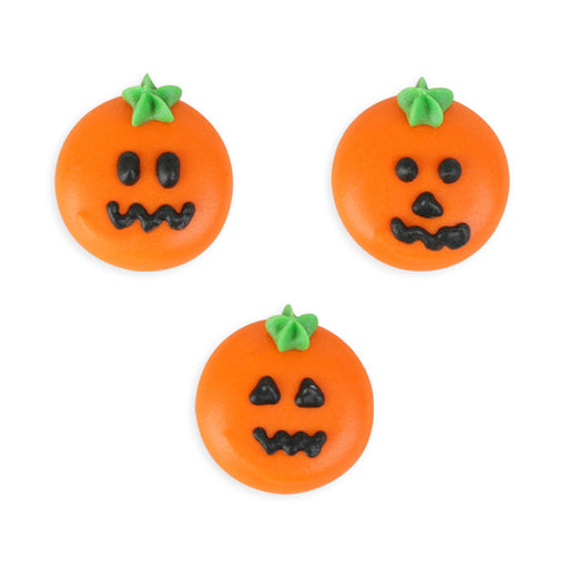 Pumpkin Rounds Royal Icing Decorations (Bulk)