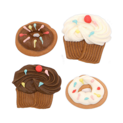 Cupcake & Donut Royal Icing Decorations (Bulk)