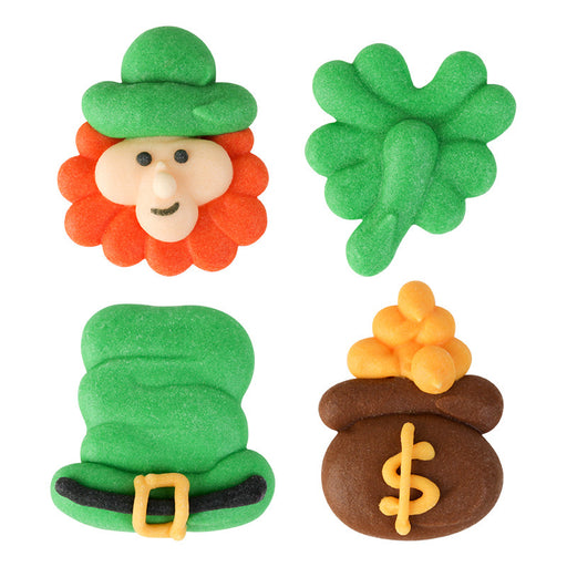St. Patrick's Day Royal Icing Decorations (Bulk)