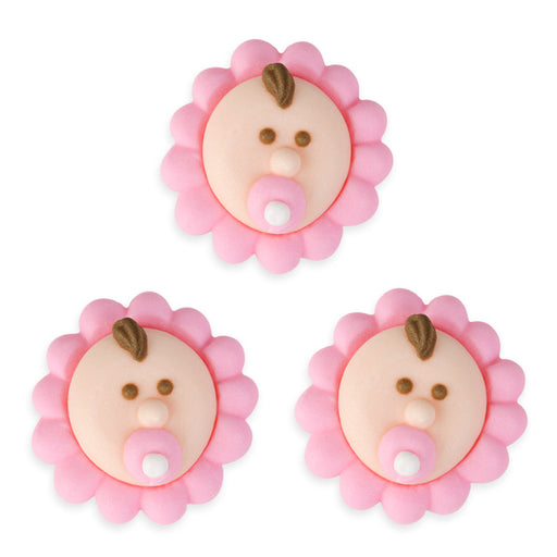 Baby Royal Icing Decorations (Bulk) - Pink