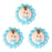 Baby Royal Icing Decorations (Bulk) - Blue