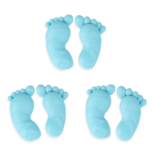 Footprints Royal Icing Decorations (Bulk) - Blue