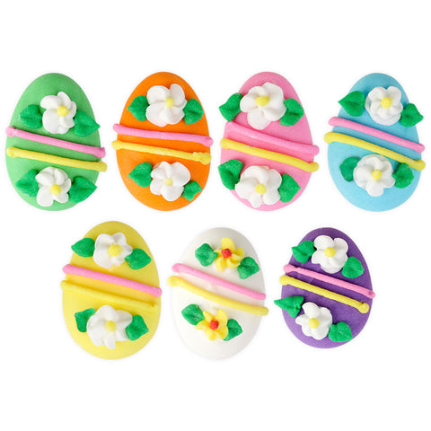 Easter Egg Assortment Royal Icing Decorations (Bulk)