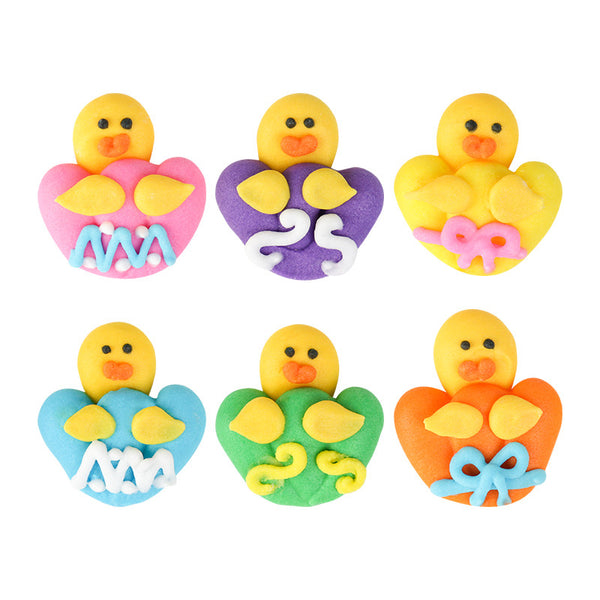 Easter Chick Assortment Royal Icing Decorations (Bulk)
