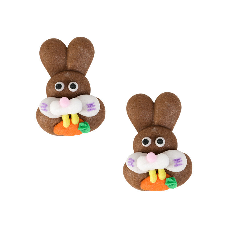 Bunny Icing Decorations (Bulk) - Brown