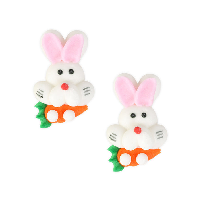 Bunny Icing Decorations (Bulk) - White