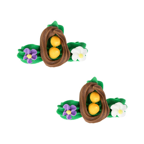 Easter Nest Assortment Royal Icing Decorations (Bulk)