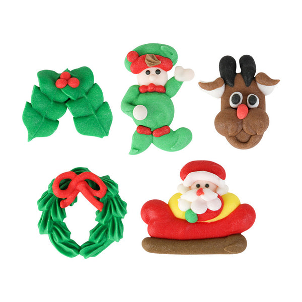 Assorted Christmas Party Royal Icing Decorations (Bulk)
