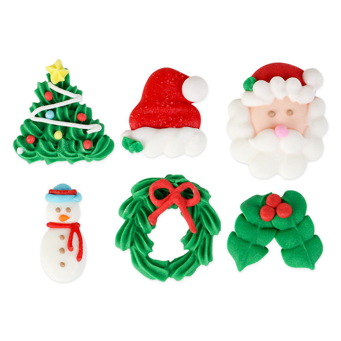 Large Christmas Set Royal Icing Decorations (Bulk)