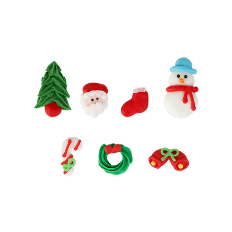 Mini Christmas Set 2 Royal Icing Decorations (Bulk)