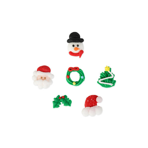 Mini Christmas Set 1 Royal Icing Decorations (Bulk)
