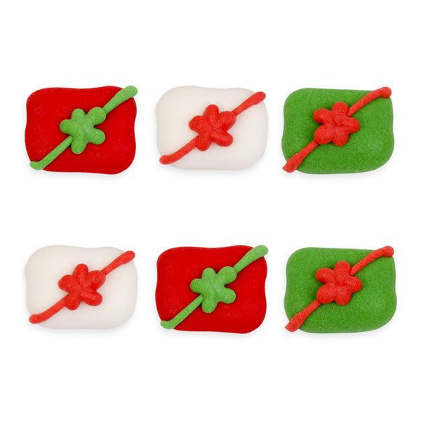 Small Christmas Gifts Royal Icing Decorations (Bulk)
