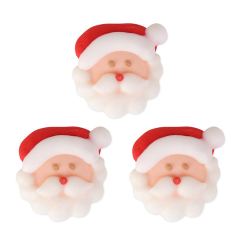 Small Santa Face 1 Royal Icing Decorations (Bulk)