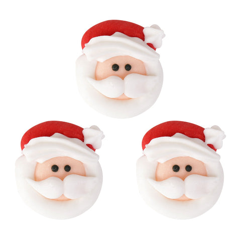 Small Santa Face 2 Royal Icing Decorations (Bulk)