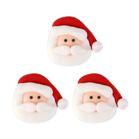 Santa Face 1 Royal Icing Decorations (Bulk)
