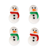 Snowman Royal Icing Decorations (Bulk)