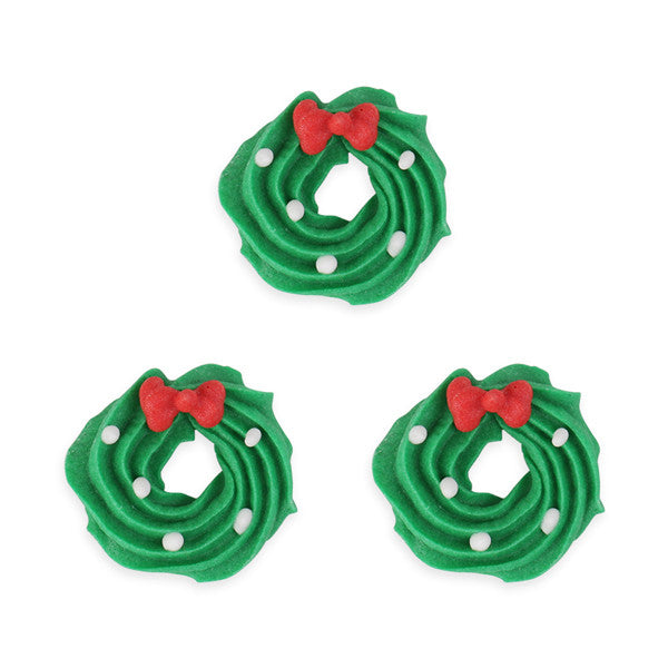 Wreath 2 Royal Icing Decorations (Bulk)
