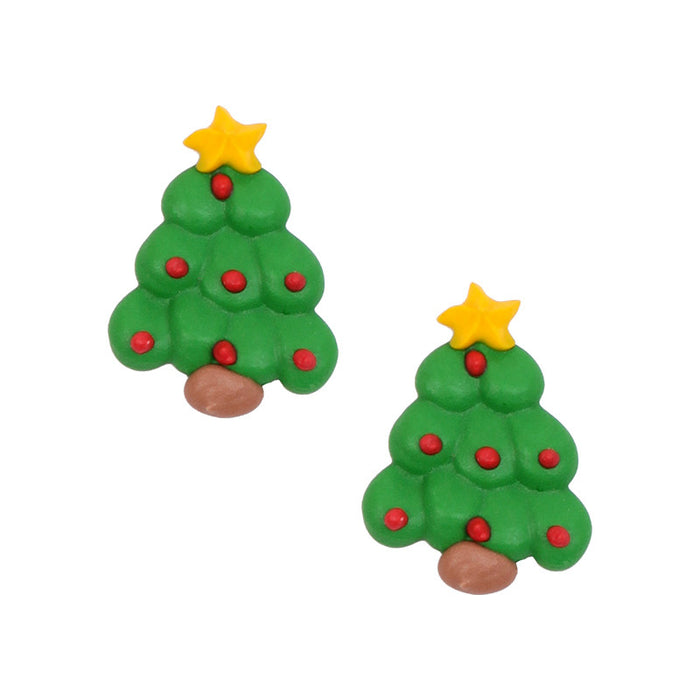 Christmas Tree 1 Royal Icing Decorations (Bulk)