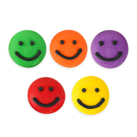 Smiley Face Assortment Royal Icing Decorations (Bulk)
