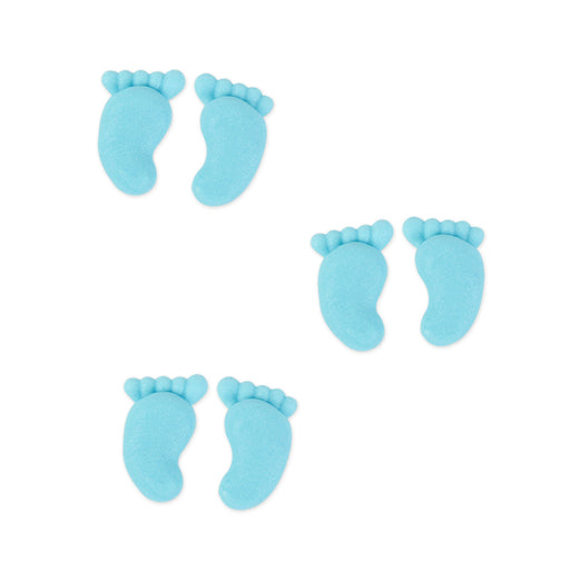 Small Footprints Royal Icing Decorations (Bulk) - Blue