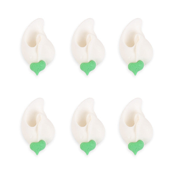 Small Rosebud Royal Icing Decorations (Bulk) - White