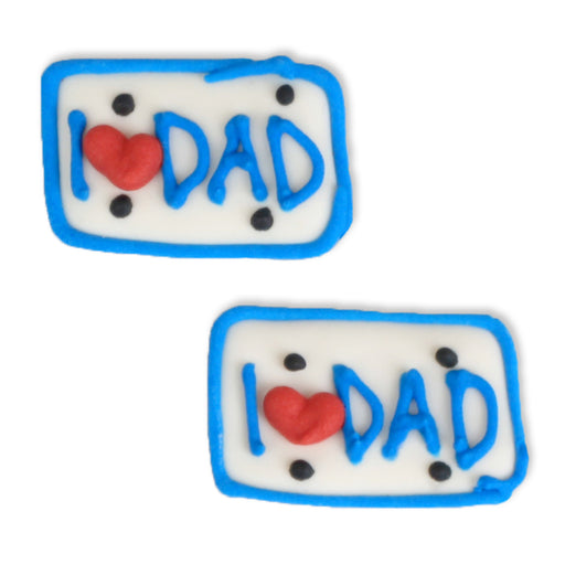 Royal Icing Toppers for Father's Day great for decorating cupcakes, cookies, cakes, candy and chocolates.