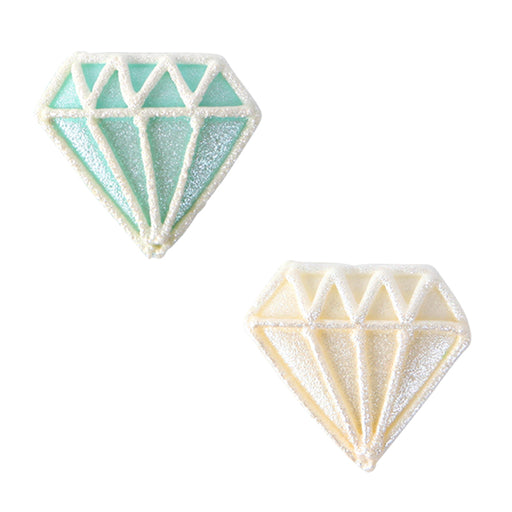 Diamond Royal Icing Decorations (Bulk)