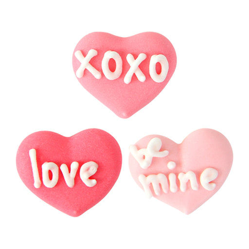 Valentine's Day Royal Icing Topper for cake decorating your own cupcakes, cakes, and fine chocolates.  Edible chocolate decorations.