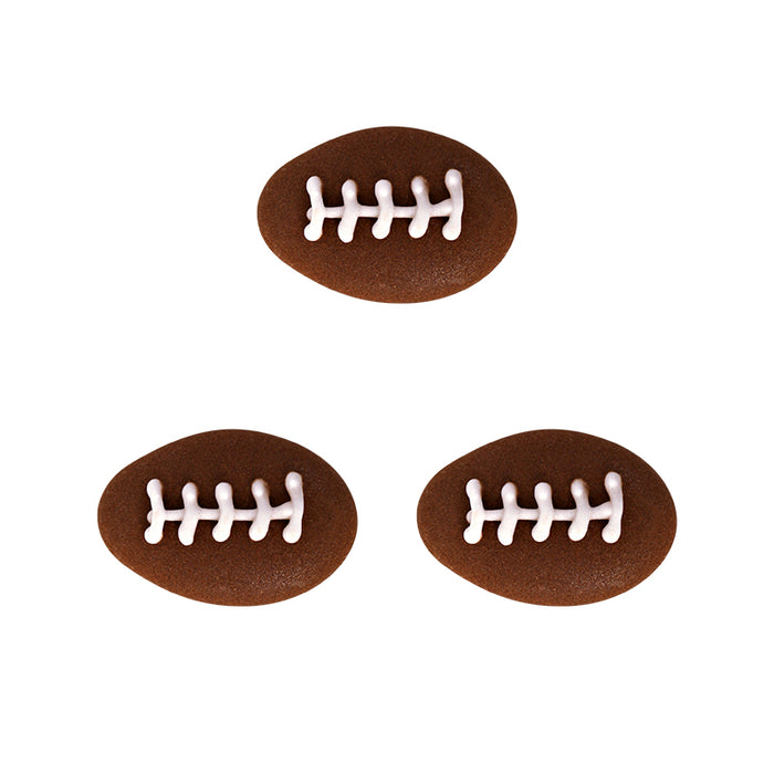 Football Royal Icing Topper for cake decorating your own cupcakes, cakes, and fine chocolates.  Edible chocolate decorations.